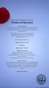 Order of service2016